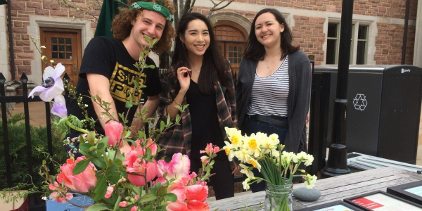 Students on the Sustainable Flowers team explored more sustainable options for the on-campus floral supply chain